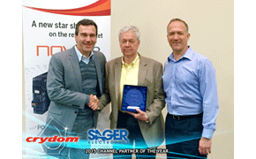 Crydom Recognizes Sager as 2015 Channel Partner