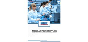 New Configurable Power Supply Series Available from Sager Power Systems Featured in Latest Edition of Modular Power Supplies Catalog