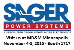 Sager Power Systems to Exhibit at MD&M Minneapolis