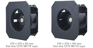 Bracket-mounted Centrifugal Fans from Sanyo Denki