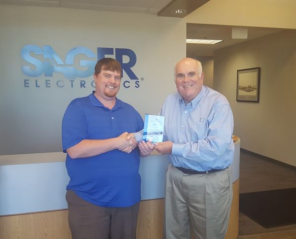 Sager Electronics Erik Gunning Named Zf Electronic Systems 2017 Distributor Product Manager