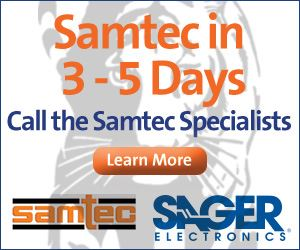 Sager Offers Samtec in 3-5 Days