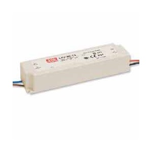 LPV-60-12 MEAN WELL 60 W, SINGLE OUTPUT, 12 V@5 A LED LIGHTING PLASTIC AC-DC POWER SUPPLY