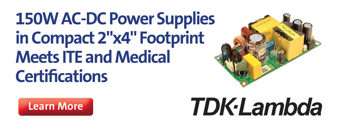 TDK-Lambda 150W AC-DC Power Supplies
