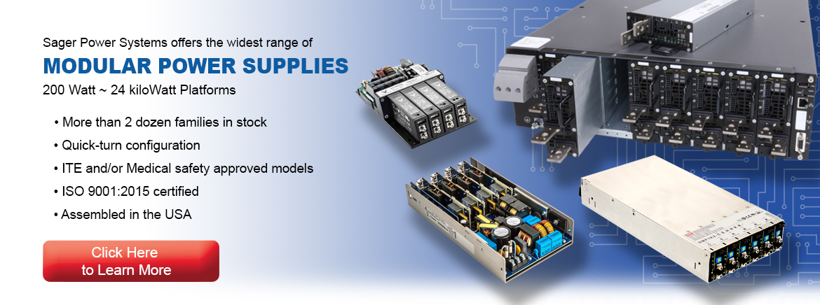 Sager Power Systems World-Class Offering of Modular Power Supplies